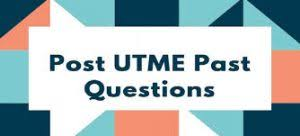 CHTCALABAR Post UTME Past Question
