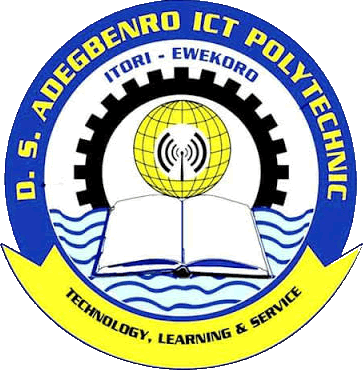 D.S. Adegbenro ICT Poly HND Admission Form